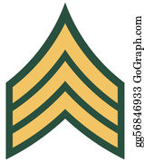 Armed-Forces - American Rank Of Sergeant Insignia