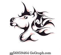Beautiful-Unicorn - Sketch Of Tattoo Art, Horse
