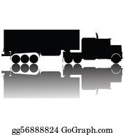 Cement-Truck - Big Truck Silhouette