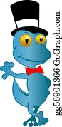 Bow-Tie - Blue Gecko Standing Top Hat