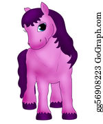 Cartoon-Farm-Animals-Card - Pink Horse