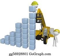 Crane - Construction Equipment People Building Business Chart