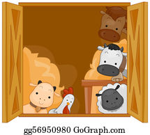 Goat-Cartoon - Barn Animals