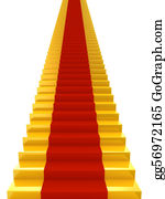 Forward - Golden Stairs With Red Carpet