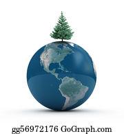 Fir-Tree - Earth With Fir Tree