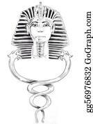 Pharaoh - Tattoo Art, Sketch Of A Pharaoh Mask