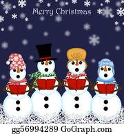 Choir - Christmas Snowman Carolers Singing