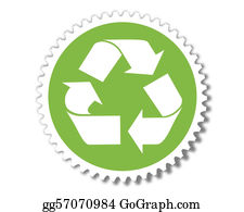 Recycle-Technology - Green Energy Button