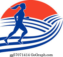 Runners - Female Marathon Runner Running