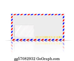 Air-Mail-Stamp - Classic Vintage Air Mail Envelope