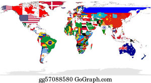Globe-Flags - World Map Flags