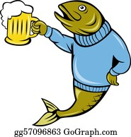 Beer - Cartoon Trout Fish Beer Mug