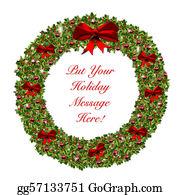 Christmas-Family - Christmas Holiday Wreath Stationary
