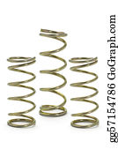 Metal-Spring - Three Metal Spring Coils