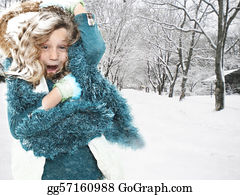 Freezing-Cold - Child In Snow Storm Blizzard