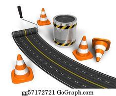 Roadworks - Road Construction Concept