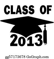 Graduation - Class Of 2013 College High School Graduation Cap