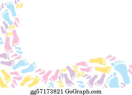Footprints - Colourful Footprint Background