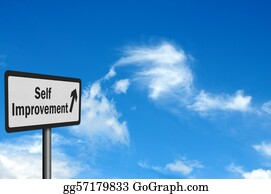 Forward - Photo Realistic 'self Improvement' Sign