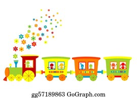 Funny-Toy-Train - Toy Train With Happy Kids