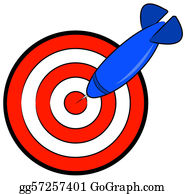 Bullseye -  Bullseye With Blue Dart Hitting Target