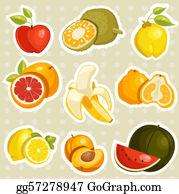 Nectarine - Cartoon Fruits Stickers