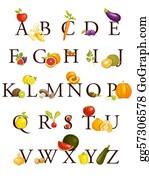 Nectarine - Fruits And Vegetables  Alphabet