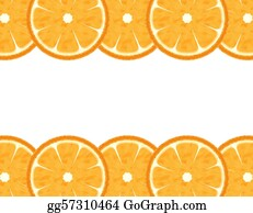 Orange-Border - Abstract Slice Orange Border