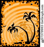 A-Palm-Tree-Sign-In-Yellow-And-Black - Summer Banner With Tropical Palms