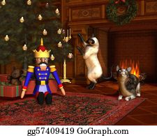 Nutcracker-Illustration - Christmas Eve By The Fireside