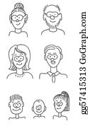 Granddaughter - Cartoon Family Portrait