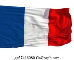 Rouge - Flag Of France, Fluttered In The Wind