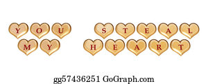 Golden-Love-Hearts - You Steal My Heart 1