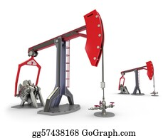 Drilling-Rig - Oil Rig : Pump Jacks Isolated