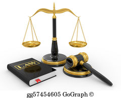 Judge-Gavel - Legal Gavel, Scales And Law Book