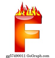 Letter-F - Letter F On Fire