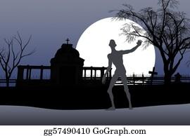 Headstone - Zombie Halloween Card