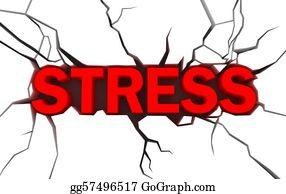 Emotions - Word Stress In Red Color With Crack