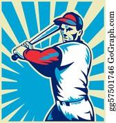 Baseball - Baseball Player Holding Bat