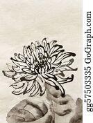 Chrysanthemum - Chinese Traditional Painting