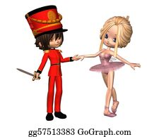 Nutcracker-Illustration - Sugarplum Fairy And Nutcracker Prin