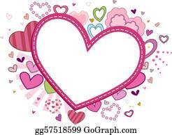 Valentine-Border-Hearts-Frame - Heart Frame