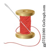 Coil - Coil With A Red Thread And Needle