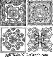 Paisley-Art - Indian Style Lace Pattern