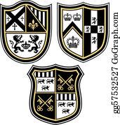 Fleur-De-Lys - Classic Heraldic Emblem Crest Shiel