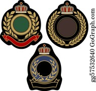 Military-Eagle-Emblem - Insigina Emblem Badge Shield
