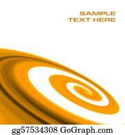 Orange-Border - Abstract Orange Swirl Background