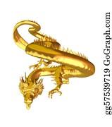 Good-Luck - Golden Chinese Dragon