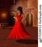 Dance-Of-Lights-In-The-Dark - Young Spanish Flamenco Dancer