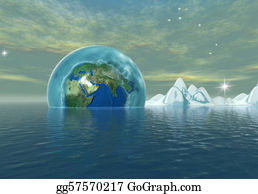Ice-Age - Frozen Earth In To The The Ocean, Environmental Catastrophe